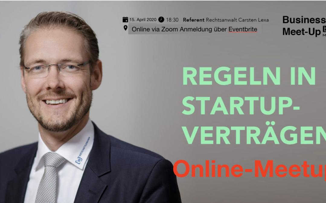 Regeln in Startup-Verträgen be content Meetup featuring Carsten Lexa