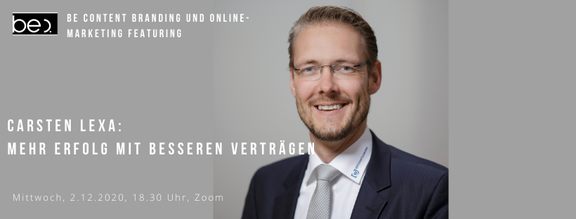 MEHR ERFOLG MIT BESSEREN VERTRÄGEN be content featuring Carsten Lexa