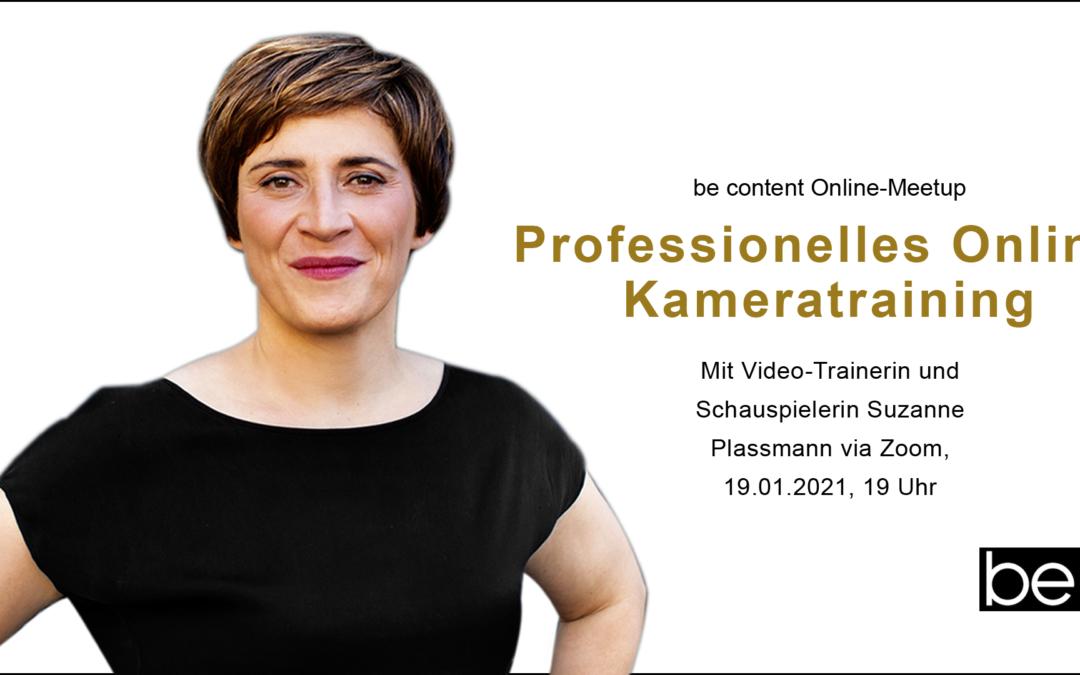 Online-Kamera-Training mit Susanne Plassmann